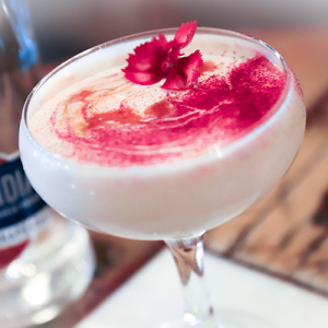 A picture of one of our creamy cocktails